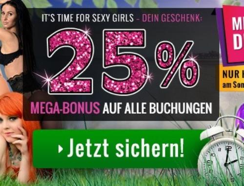 Zeitumstellung – 25% Bonus auf jede Aufladung!