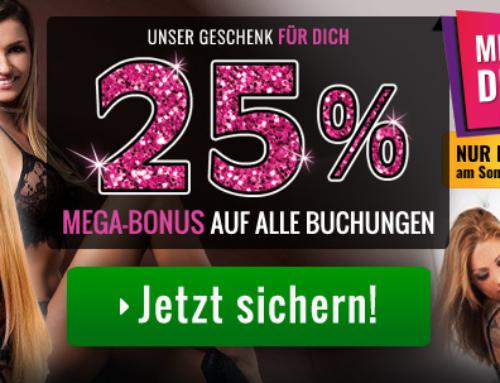 25 Prozent Big Bonus auf jede Aufladung